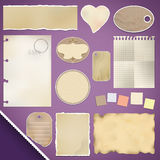 Scrapbooking Set: Torn Paper Royalty Free Stock Images
