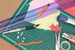 Scrapbooking stuff Stock Photography