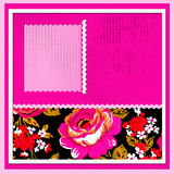 Scrapbooking style. Scrapbook with beautiful pink flowers Stock Image