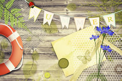 Scrapbooking Summer  Background Stock Photos