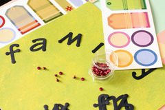 Scrapbooking supplies Stock Photo