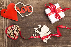 Scrapbooking, valentine day Stock Images