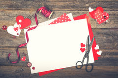 Scrapbooking for Valentine`s Day Stock Photography