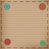 Scrapbooking Vintage cardboard card buttons Royalty Free Stock Photos