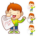 Scrape well on the test. Education and life Character Design ser Royalty Free Stock Image