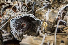 Scrapheap of car transmission Stock Image