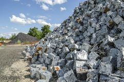 Pilhas do metal de Scrapheap Imagem de Stock Royalty Free