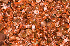 Scrapheap of copper Stock Image