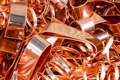 Scrapheap de la hoja de cobre (hoja) Fotografía de archivo libre de regalías