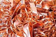 Scrapheap du clinquant de cuivre (feuille) Image libre de droits