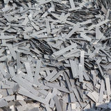 Scrapheap of silicon steel Stock Photos