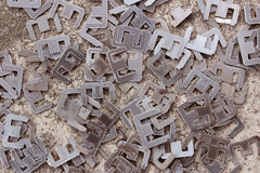 Scrapheap of silicon steel (steel for transformer) Stock Images