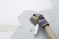Scraping paint Royalty Free Stock Photography