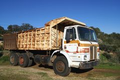 Scrapped Greek truck or lorry Stock Photo