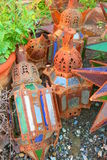 Scrapped lanterns Royalty Free Stock Photo