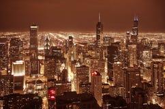 Scrappers del cielo del Chicago Fotografia Stock Libera da Diritti