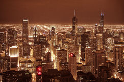 Scrappers do céu de Chicago foto de stock royalty free