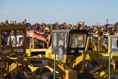 Scrapping Construction Machinery Royalty Free Stock Image
