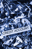 Scraps кредитный счет Стоковое фото RF
