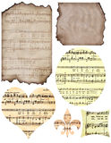 Scraps. Of vintage papers and ephemera in various shapes Stock Photos