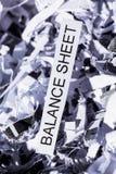 Scraps balance sheet Royalty Free Stock Images