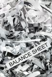 Scraps balance sheet Royalty Free Stock Images