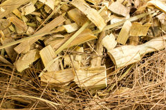 Scraps of bamboo wood, background and texture Royalty Free Stock Images