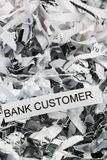 Scraps bank customer Royalty Free Stock Photo
