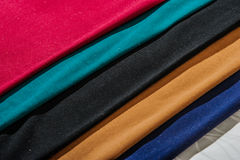 Scraps of colored tissue close up. Royalty Free Stock Photography