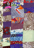 Scraps. Image of fabric which is made of multi-colored fabric scraps Stock Image
