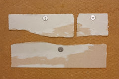 Scraps of paper Stock Photography