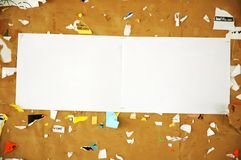 Scraps paper Stock Image