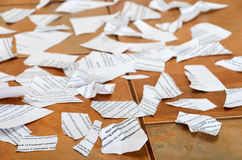 Scraps of papers Stock Photography