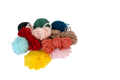 Scraps of wool. Scraps of colorful wool Royalty Free Stock Images