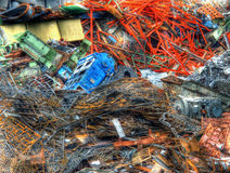Scrapyard. In an industrial plant Stock Image