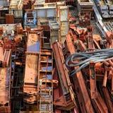 Scrapyard of building material Royalty Free Stock Images