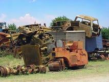 Scrapyard de los coches foto de archivo libre de regalías