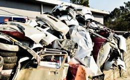 Scrapyard del automóvil Fotografía de archivo