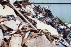 Scrapyard dichte omhooggaand Royalty-vrije Stock Foto