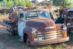 Scrapyard en Colesberg en la región del Karoo de Suráfrica Imagen de archivo libre de regalías