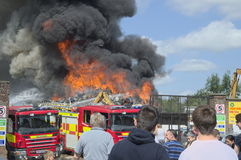 Scrapyard fire Stock Photos