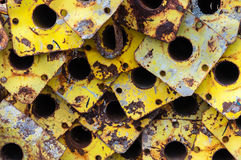 Scrapyard metal detail Stock Photo