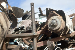 Scrapyard Royalty Free Stock Photography
