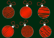 Scratch ball christmas Royalty Free Stock Photo