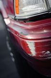 Scratch on a Bumper Royalty Free Stock Photos
