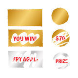 Scratch card elements Royalty Free Stock Photography