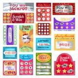 Scratch card set vector illustration