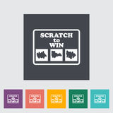 Scratch card. Single flat icon on the button. Vector illustration Royalty Free Stock Photo