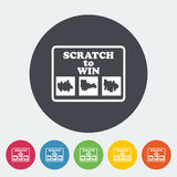 Scratch card Royalty Free Stock Photo
