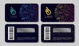 Scratch cards templates for store with icon pattern vector illustration